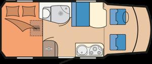 Hobby Premium Van 55 GF daytime layout